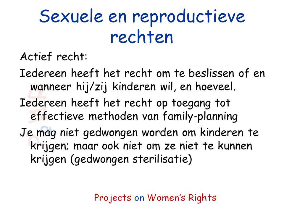 Sexuele en reproductieve rechten