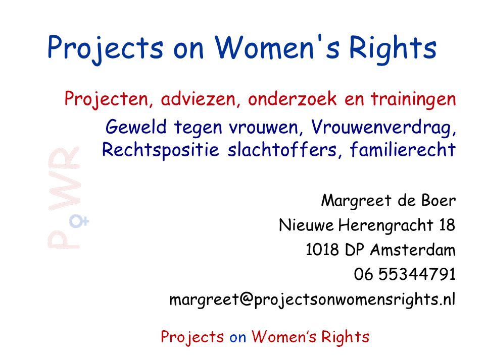 Projects on Women s Rights