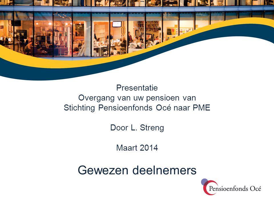 Gewezen deelnemers Presentatie Overgang van uw pensioen van