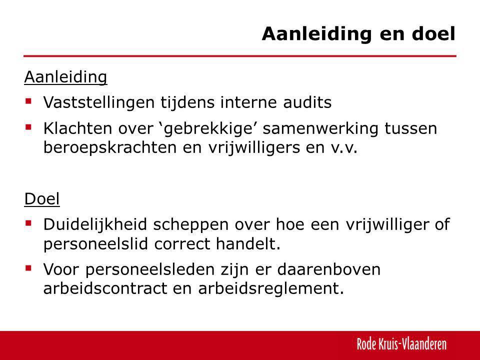 Aanleiding en doel Aanleiding Vaststellingen tijdens interne audits