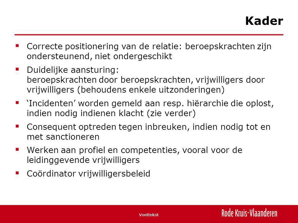 Kader Correcte positionering van de relatie: beroepskrachten zijn ondersteunend, niet ondergeschikt.