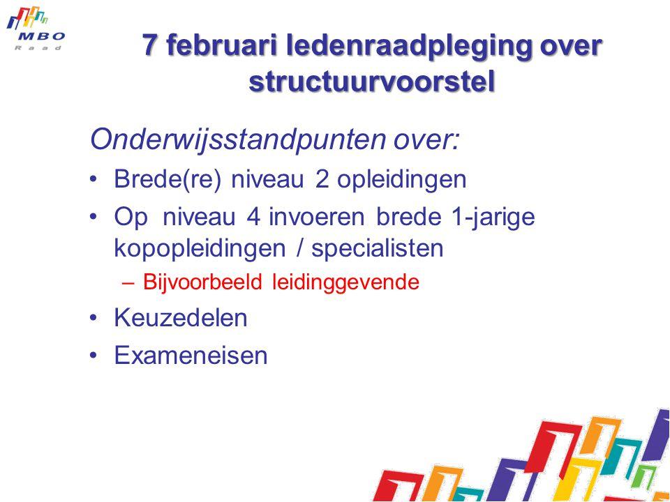 7 februari ledenraadpleging over structuurvoorstel