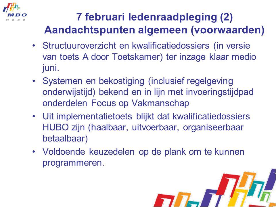 7 februari ledenraadpleging (2) Aandachtspunten algemeen (voorwaarden)
