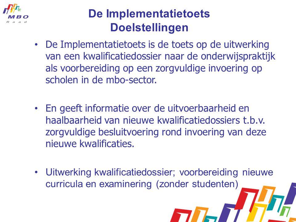 De Implementatietoets Doelstellingen