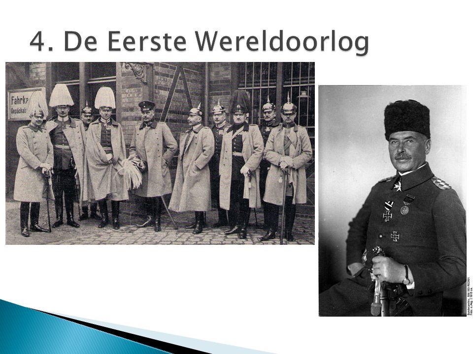 4. De Eerste Wereldoorlog
