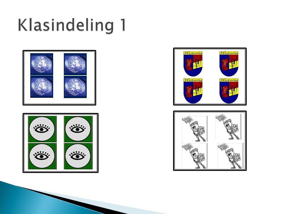 Klasindeling 1
