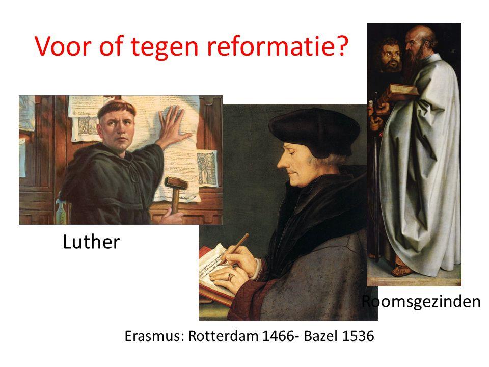 Voor of tegen reformatie