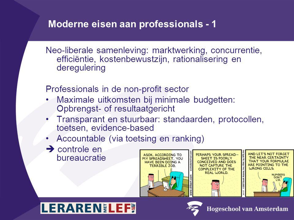 Moderne eisen aan professionals - 1