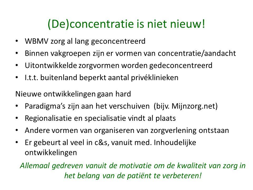(De)concentratie is niet nieuw!