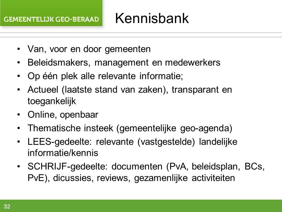 Kennisbank Van, voor en door gemeenten