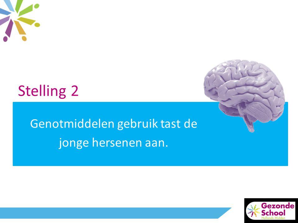 Genotmiddelen gebruik tast de jonge hersenen aan.