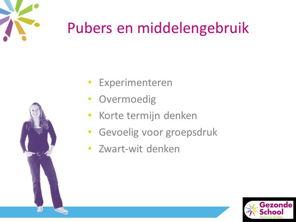 Pubers en middelengebruik