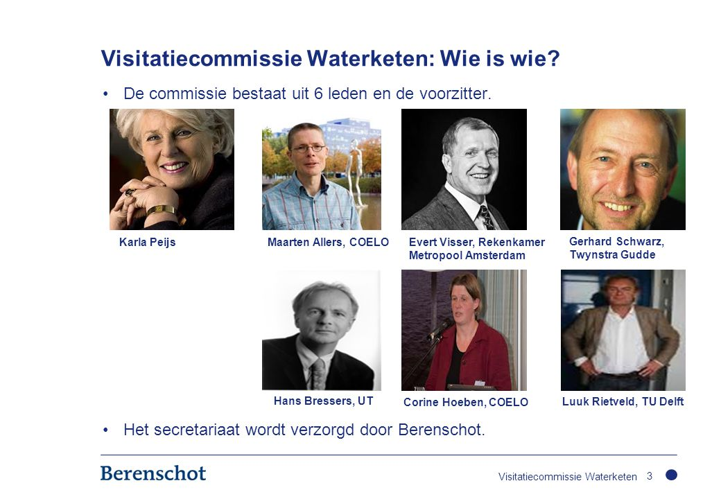 Visitatiecommissie Waterketen: Wie is wie
