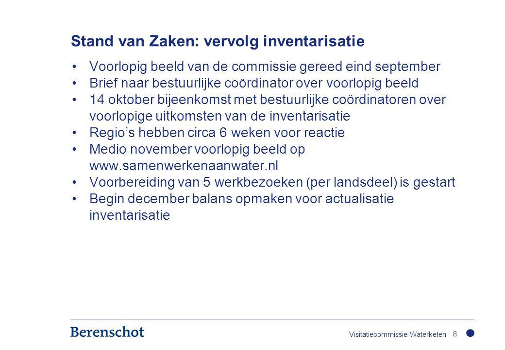 Stand van Zaken: vervolg inventarisatie