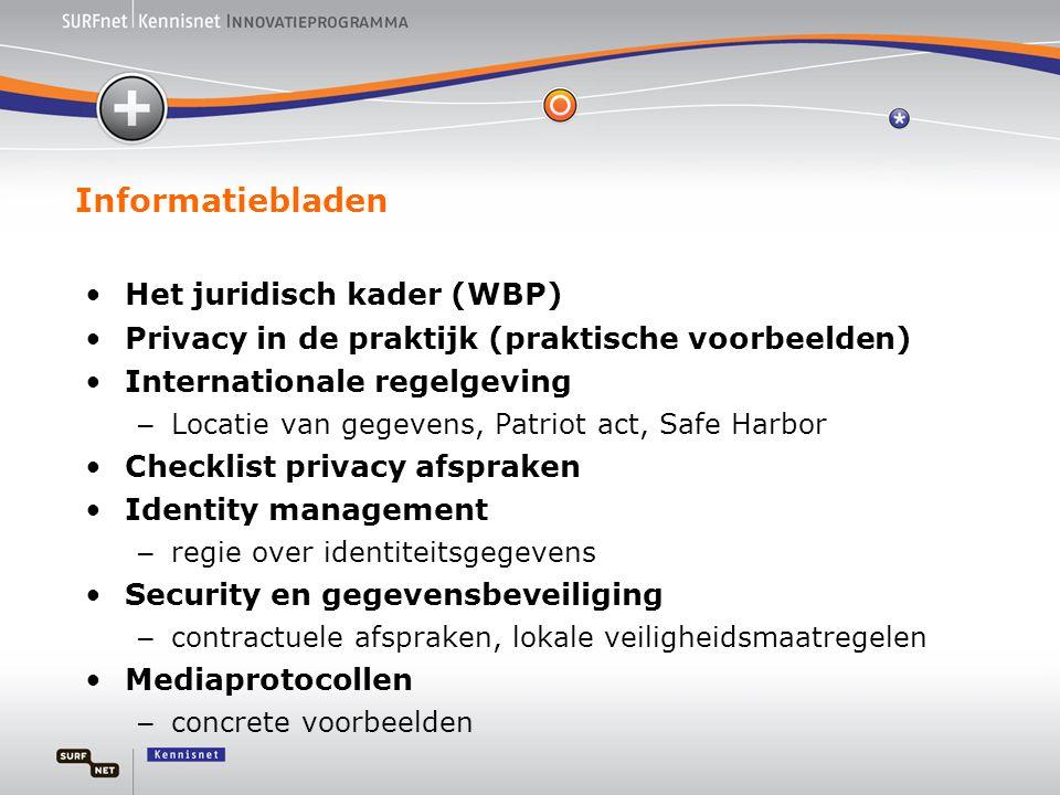 Informatiebladen Het juridisch kader (WBP)