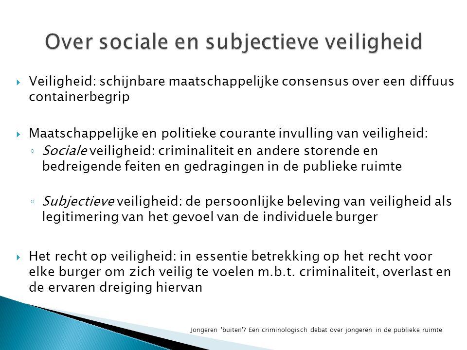 Over sociale en subjectieve veiligheid