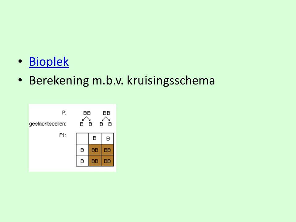 Bioplek Berekening m.b.v. kruisingsschema