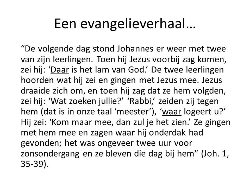 Een evangelieverhaal…
