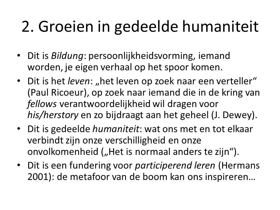 2. Groeien in gedeelde humaniteit