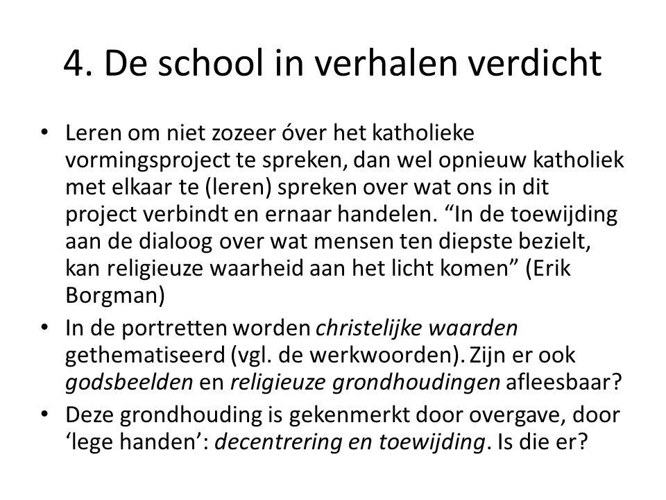 4. De school in verhalen verdicht