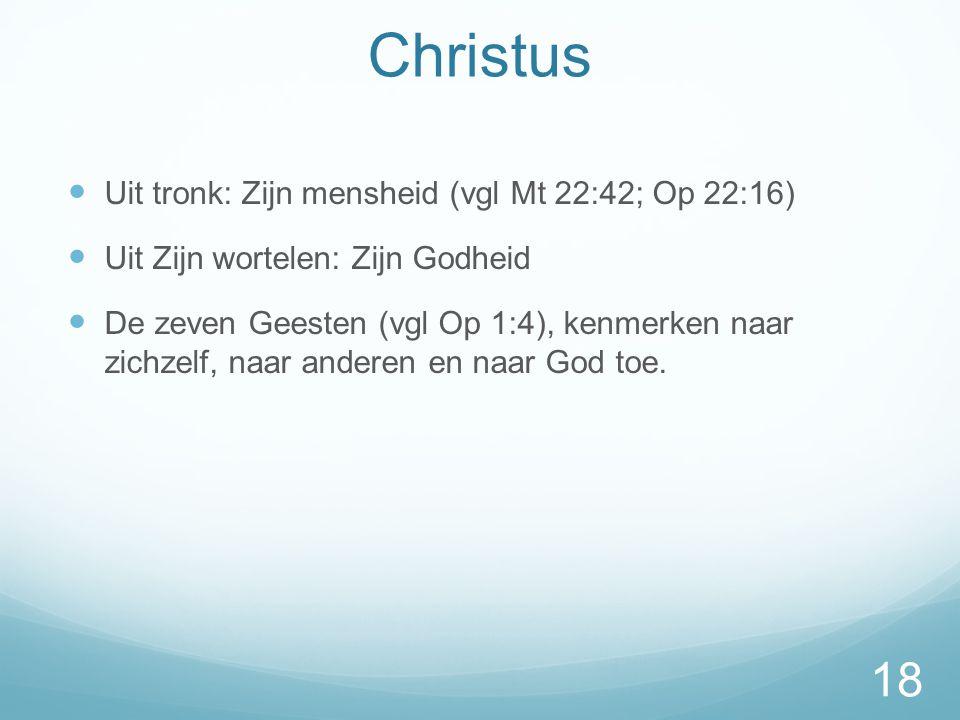Christus Uit tronk: Zijn mensheid (vgl Mt 22:42; Op 22:16)