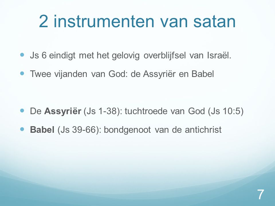 2 instrumenten van satan