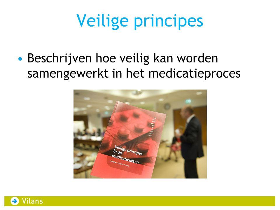 Veilige principes Beschrijven hoe veilig kan worden samengewerkt in het medicatieproces