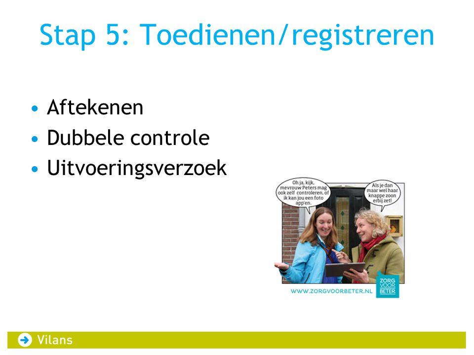 Stap 5: Toedienen/registreren