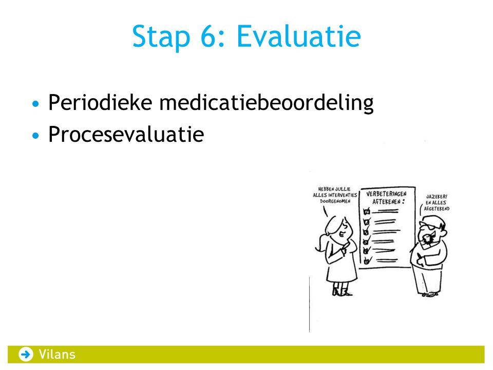 Stap 6: Evaluatie Periodieke medicatiebeoordeling Procesevaluatie
