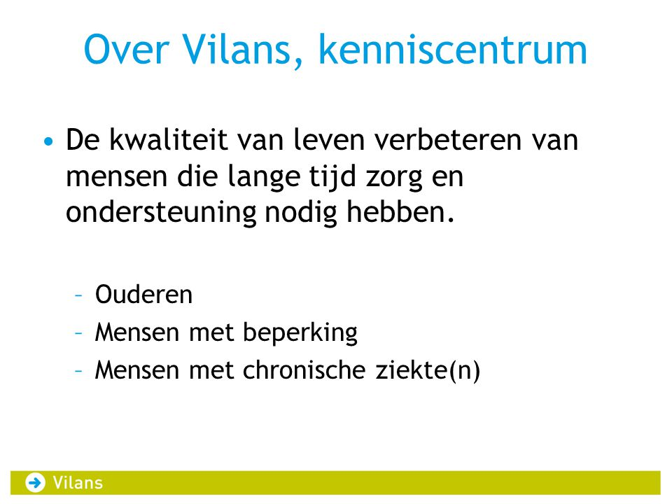 Over Vilans, kenniscentrum