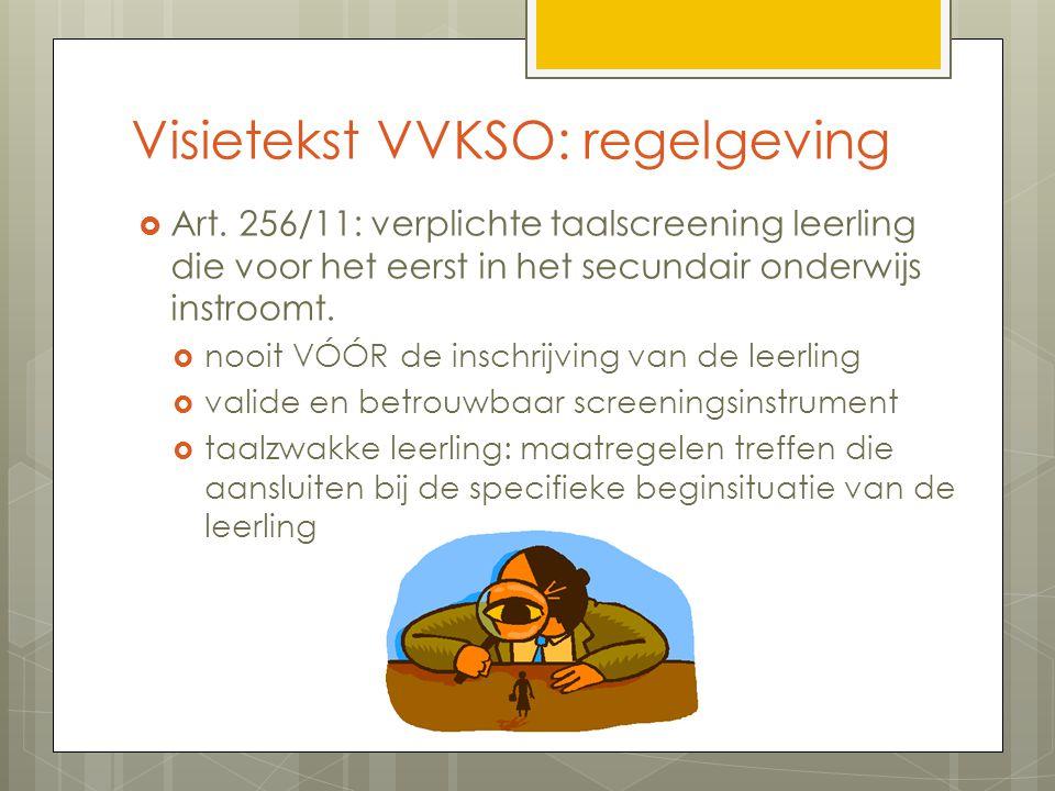 Visietekst VVKSO: regelgeving