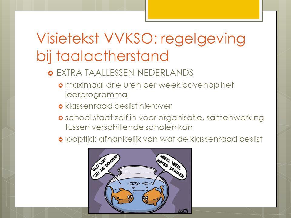 Visietekst VVKSO: regelgeving bij taalactherstand