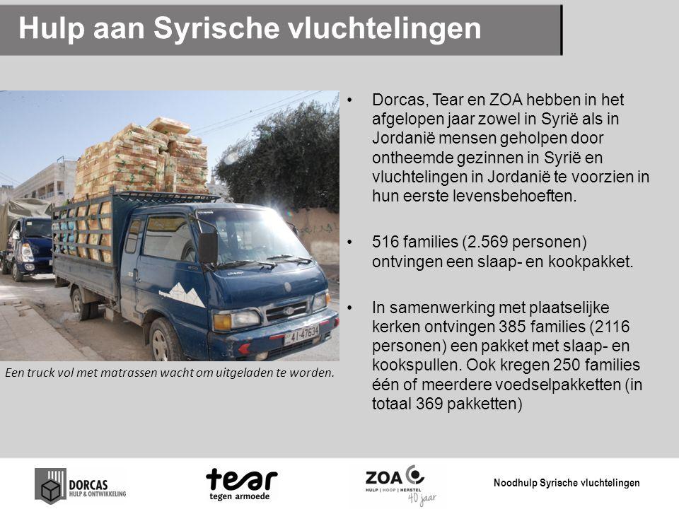 Hulp aan Syrische vluchtelingen
