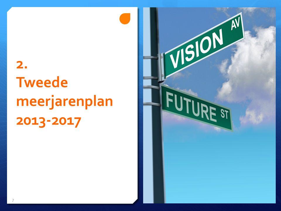 2. Tweede meerjarenplan 2013-2017