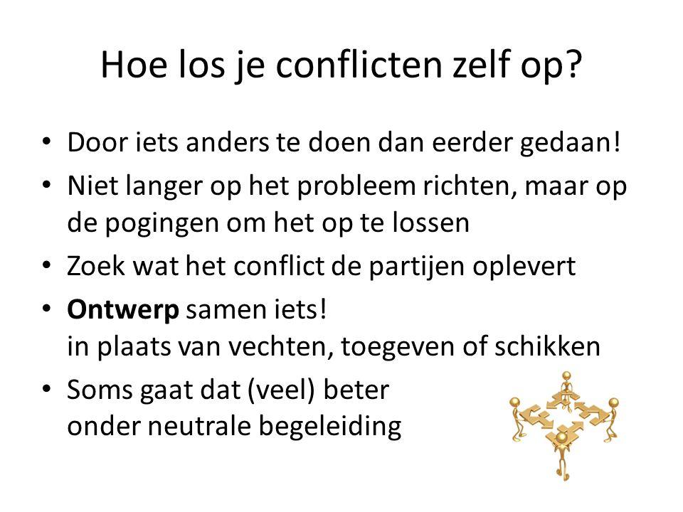 Hoe los je conflicten zelf op