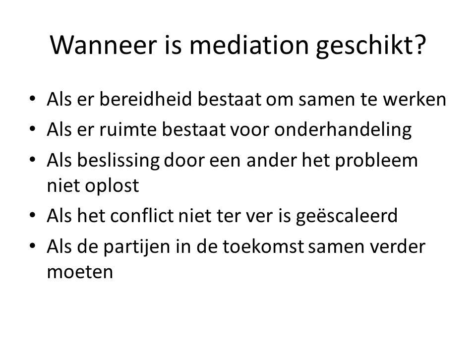 Wanneer is mediation geschikt