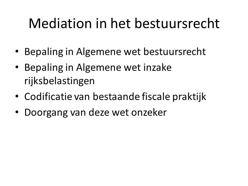 Mediation in het bestuursrecht