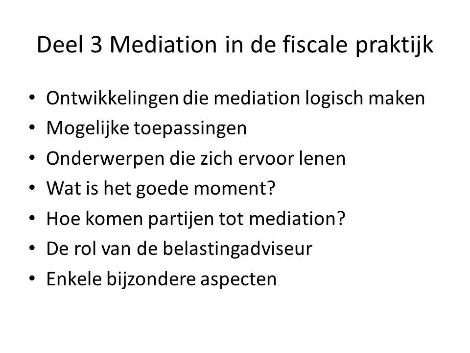 Deel 3 Mediation in de fiscale praktijk