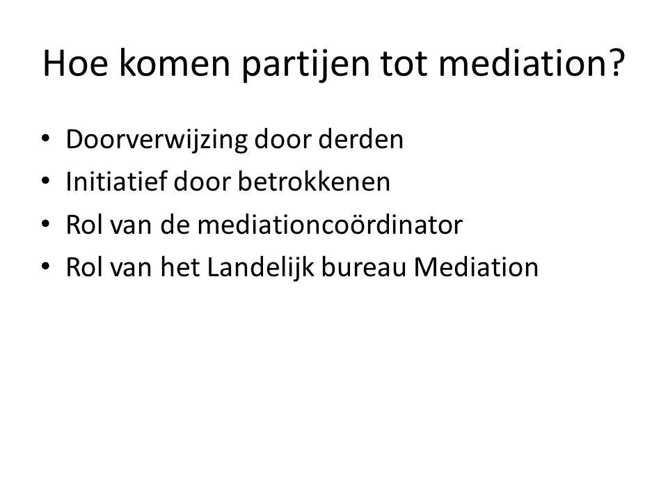 Hoe komen partijen tot mediation