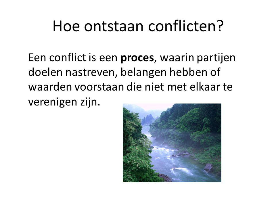 Hoe ontstaan conflicten
