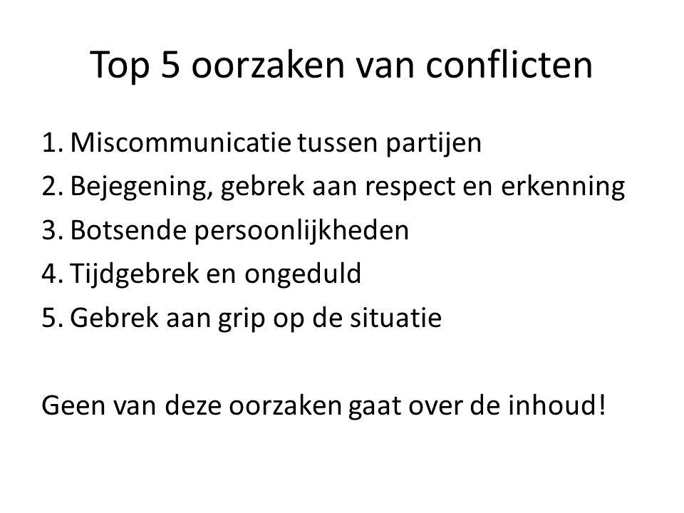 Top 5 oorzaken van conflicten