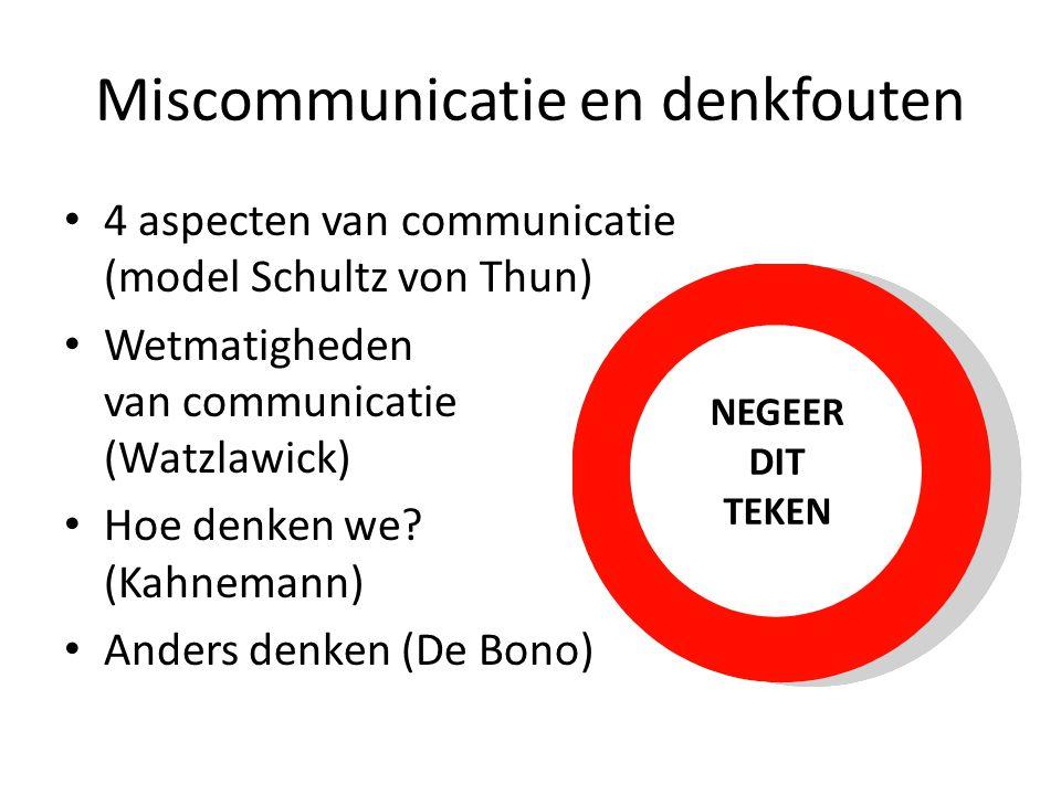 Miscommunicatie en denkfouten