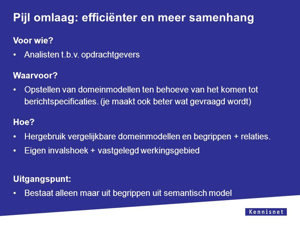 Pijl omlaag: efficiënter en meer samenhang