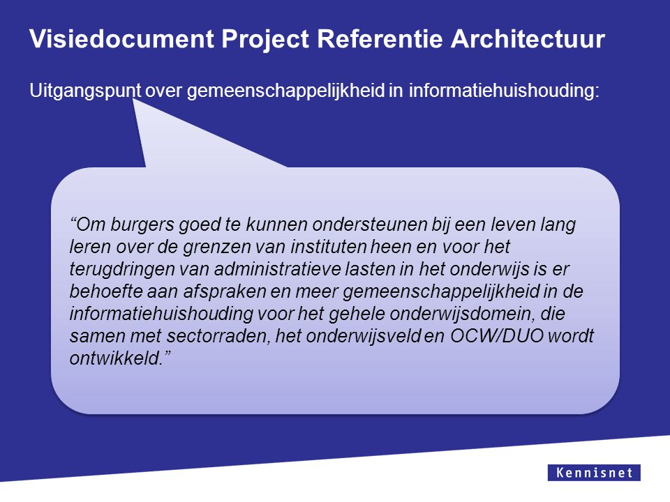 Visiedocument Project Referentie Architectuur