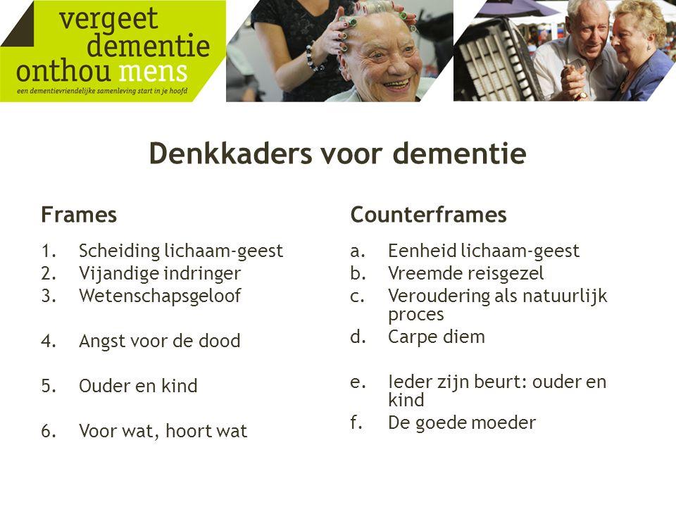 Denkkaders voor dementie