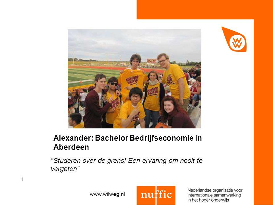 Alexander: Bachelor Bedrijfseconomie in Aberdeen