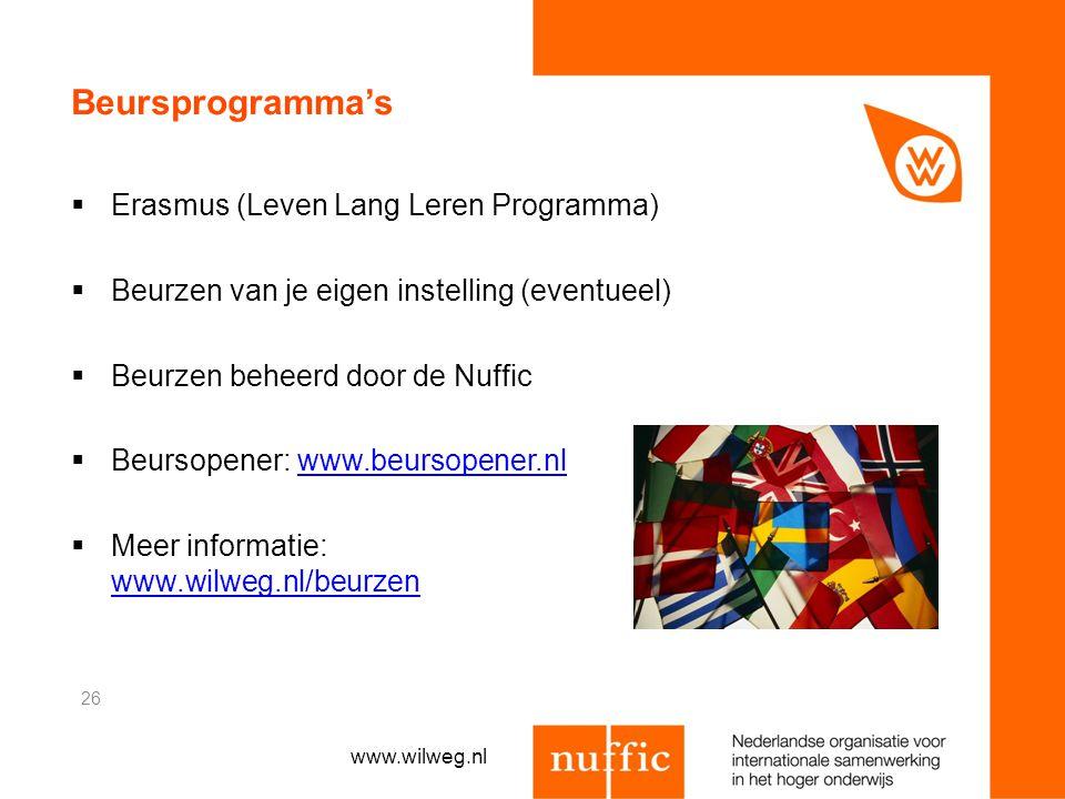 Beursprogramma's Erasmus (Leven Lang Leren Programma)