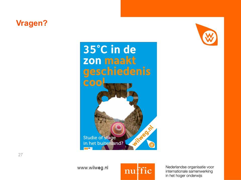 Vragen www.wilweg.nl