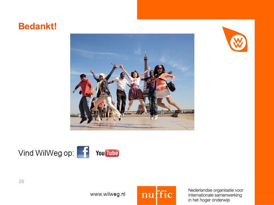 Bedankt! Vind WilWeg op: www.wilweg.nl