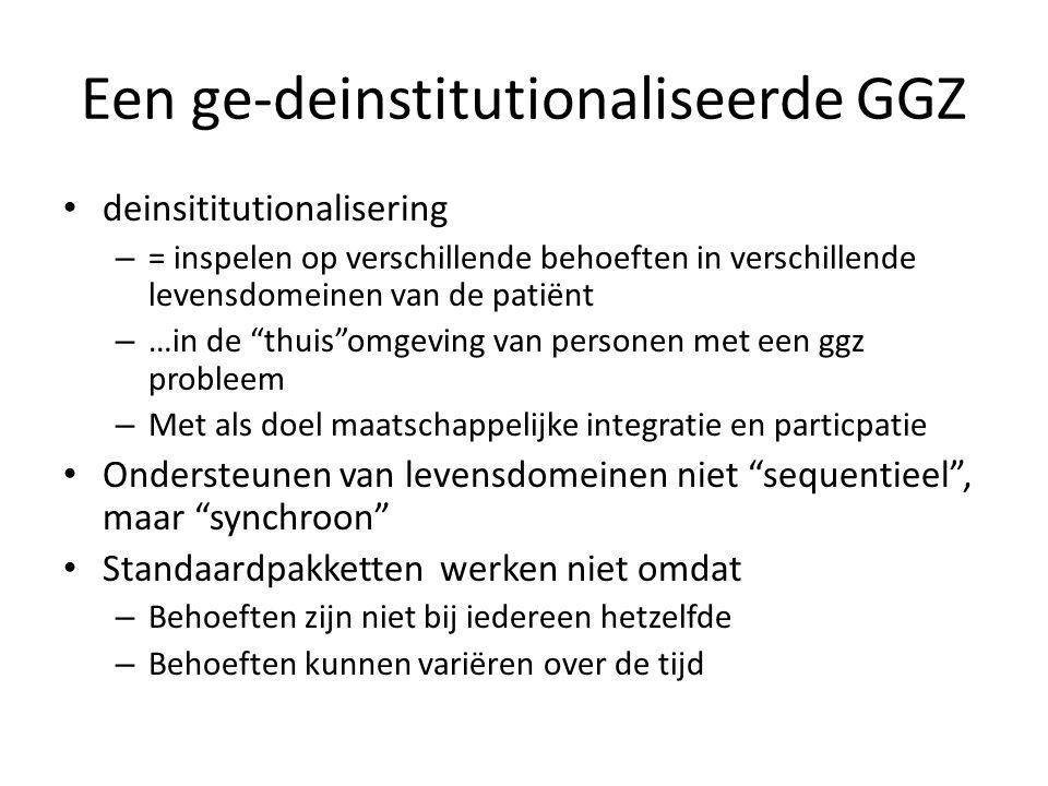 Een ge-deinstitutionaliseerde GGZ